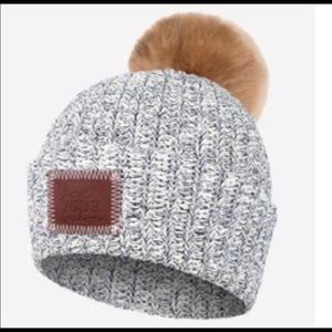 LOVE YOUR MELON Navy Pom Pom Hat